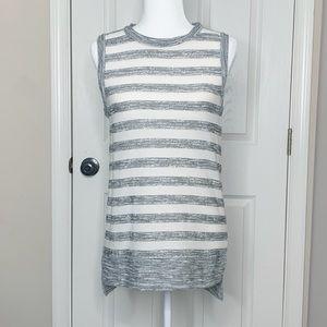 Lou & Grey Sleeveless Knit Striped Tunic Size XS